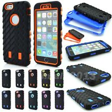 3 in 1 Hybrid Shockproof Rugged Combo Defender Tyre Armor Case for iPhone 6 4.7""