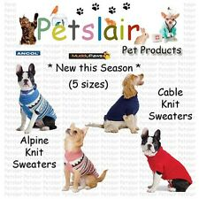 Ancol Alpine & Cable Knit Jumpers Sweaters Xtra Warmth Dogs Puppies