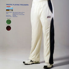 SMALL Adult Cricket White TROUSERS by NORTH GEAR in PACIFIC style -Blue or Green