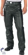 Men's Fitted Leather Motorcycle Pants