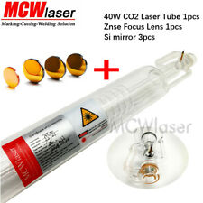 1x 40W CO2 Laser tube +3x Si Reflective Mirrors + 1x Znse Lens Engraver Cutter