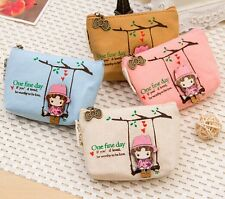 Mini swing girl COINS bag Purse Holder Case Wallet Pouch