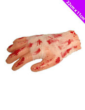 Halloween Bloody Severed Hand Bandaged Prop Fake Scary Cannibal Party Gory