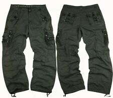 MENS MILITARY-STYLE 100% COTTON SOLID COLOR CARGO PANTS SIZE 32-44 #12211