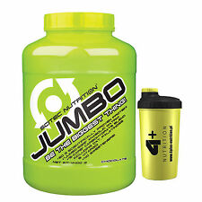 Jumbo 4400g Weight Gainer Whey Protein Quality Protein BCAA Carbohydrates + Gift