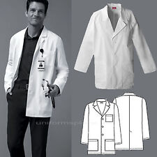 Dickies MEDICAL SCRUBS Mens Washed Consultation Lab Coat White 3 pockets 81404