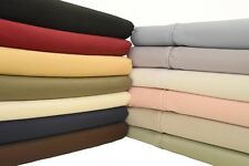 Solid Sheets 300 TC Bed Sheet Set 100% Egyptian Cotton Sheets - Silky Soft