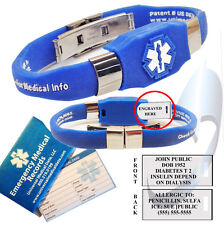 ELITE™ Medical Alert Bracelet with custom engraving plate