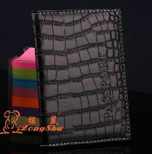 Alligator embossing Passport Holder Protector Cover PU Leather Wallet