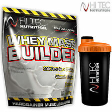 WHEY MASS BUILDER 1,5kg + FREE SHAKER Anabolic Weight Gainer Muscle Growth Gain
