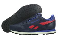 [M41831] REEBOK CLASSIC LEATHER RE NAVY/RED MEN'S SIZE 8 TO 13 NIB