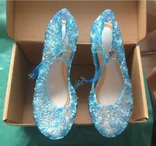 XMAS Elsa Princess Queen Anna Fancy Dress up Cosplay Jelly Shoes Kids Girls