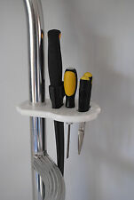 Boat Knife Pliers Tackle Hook Rig Utility Tool Holder Clamp on for Boat Pipes