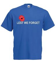 LEST WE FORGET POPPY army war military rememberence Memorabilia ADULT TEE TSHIRT