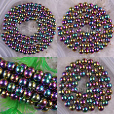 """Free Shipping 4MM 6MM 8MM Multi-color Magnetic Hematite Healing Round Beads 16"""""""