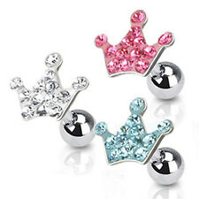 Coolbody Tragus Cartilage Piercing Multi Zirconia 3 Colours Crowns - Piercings
