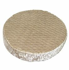 mp05r Pale Brown Gold Folds Shimmer Velvet Style 3D Round Seat Cushion Cover