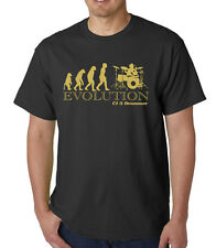 DRUMMER MUSIC APE OF EVOLUTION  T SHIRT,  Birthday Gift, FUNNY, JOKE, MUSIC