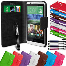 Soft Leather Suction Wallet Flip Mobile Phone Case Cover For HTC Desire 510