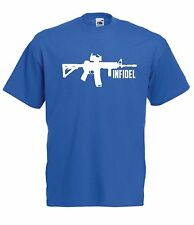 INIFIDEL army war game gamer soldier birthday christmas present ADULT T SHIRT