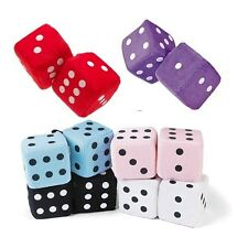 """Fuzzy Retro Car Dice Back to the 50's  3"""" dice Nice Quality New"""