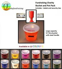 CHARITY COLLECTION  BUCKET AND DONATION BOX/POT FUNDRAISING PACK