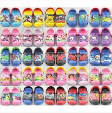 New Unisex Toddlers Kids Cartoon Sandals Clogs Mules Floral Shoes 24 Colors