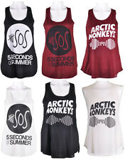NUOVO Arctic Monkey e 5 SOS stampa donna t-shirt mod ragazze Canotta Tank Top