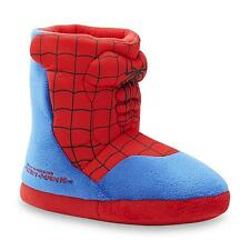 SPIDER-MAN Plush Boot Costume Slippers NWT Boys Size 9/10, 11/12, 13/1 or 2/3