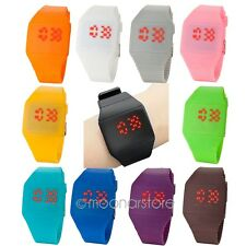 Unisex Thin LED Touch Digital Display Charm Rubber Sport Wristwatch Watches SNW2