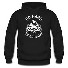 Go Hard Or Go Home Training Sport Gym Fitness Bodybuilding Hoodie Kapuzenpullove