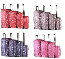 LIGHTWEIGHT SUITCASE CABIN TROLLEY LUGGAGE TRAVEL CASE BAG BUTTERFLY  PATTERN