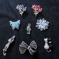 LADIES FASHION  BROOCHES/PINS - COSTUME JEWELLERY - MANY STYLES AND COLOURS