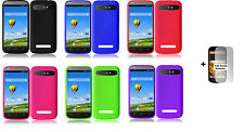 ZTE Warp Sync N9515 (Boost Mobile) Silicone Case phone Cover + Screen Protector