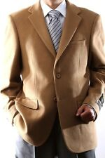 Mens Two Button Lamb Wool Cashmere Vicuna Sport Coat, J40912C-40934-CAM