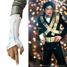 Rare MJ Michael Jackson Punk Armbrace BAD Jam Black White Cotton Lace up Glove
