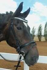 Fabulous Genuine Leather Horse Dressage Bridle with Leather Rein Lower Price