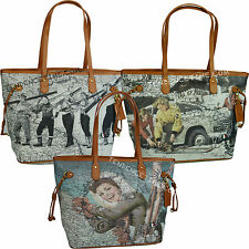 Borsa donna Y NOT ? shopping con manici a spalla SHOPPER BAG 319 WINTERLAND