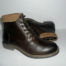 NEW Clark's Mens Mid Boots Brown Leather UK Size 9