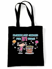 BLOWING OUT CANDLES FOR 31 YEARS SHOPPING  TOTE BAG 31st Birthday Present Gift