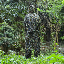 3D Ghillie Suit Camo Woodland Camouflage Desert Hunting 2 Size 2 Pieces Sniper