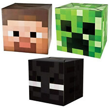 Minecraft Box Heads - Enderman Steve Creeper Costume Boxheads Fancy Dress Choose