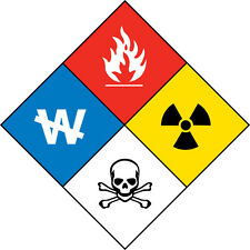 HazMat #1 Hazardous Material Vinyl Decal/Sticker - 4 Sizes Available