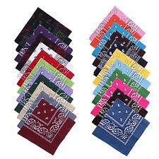 NEW 100% cotton paisley bandanas double sided head wrap scarf wristband Hot HG