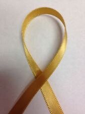 OLD GOLD Single Face/Sided SF Satin Ribbon - Select Spool Size - Schiff Ribbon