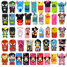 Hot!3D New Cartoon Superhero Soft Silicone Rubber Case Cover For Apple & Samsung