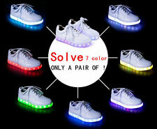 Unisex Adult Shoes Fashion Shoes LED Light Club Leather 7 Colors Sneakers LED-2