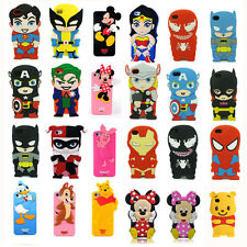 New 3D New Cartoon Superhero Soft Silicone Rubber Case Cover For Apple & Samsung