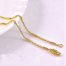 1mm 18K Yellow Gold Plated Box Link Chain Necklace N004