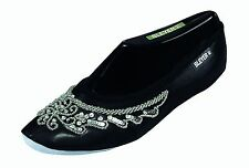 Pailettenbestickte Belly Dance Shoes Gymnastics Shoes from Bleyer, black/silver